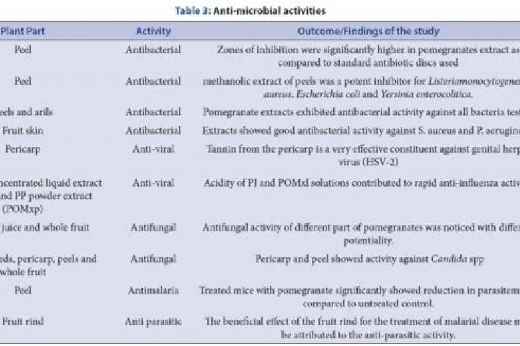 Anti-microbial activities