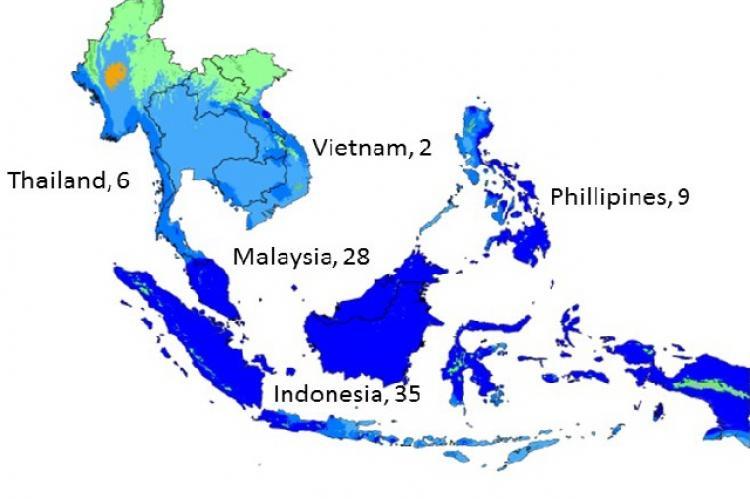 ACE inhibition studies on medicinal plants across Southeast Asia